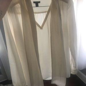 Ann Taylor silk ivory blouse